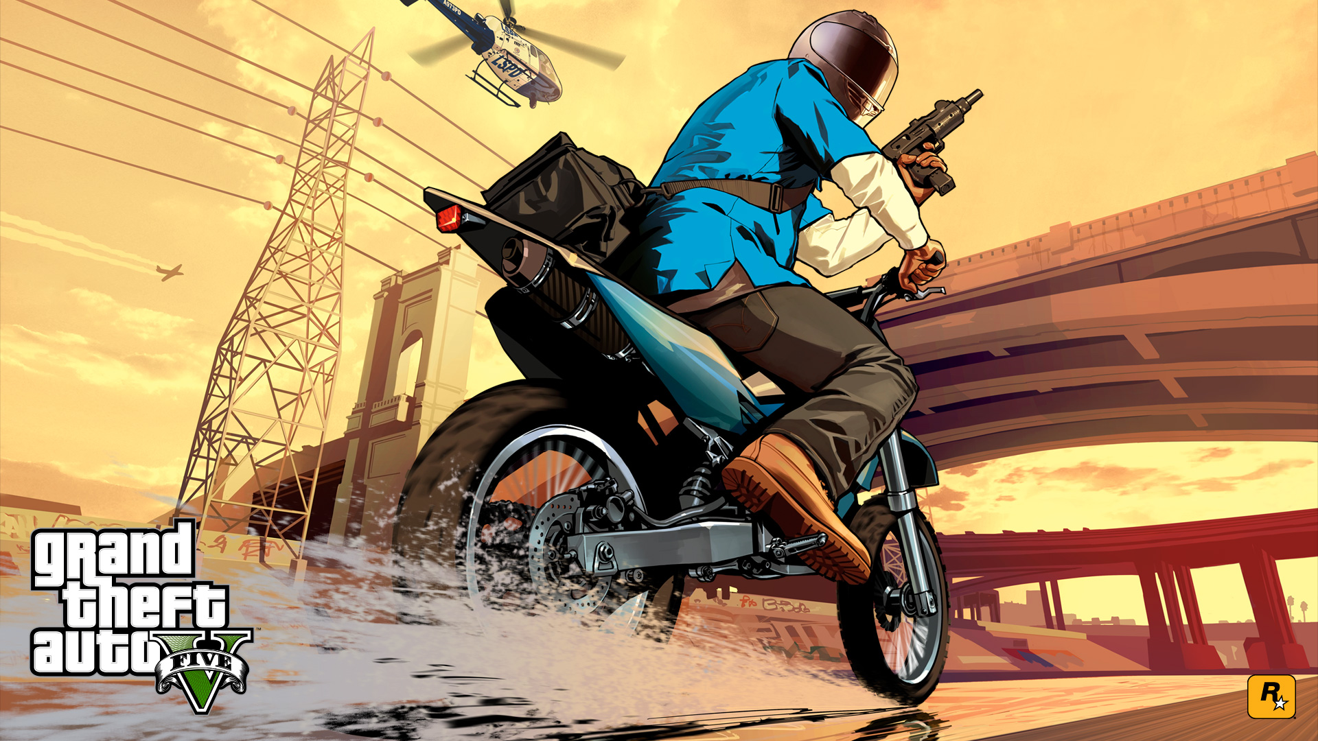 Gta  Franklin_bike_chase_x Wallpaper