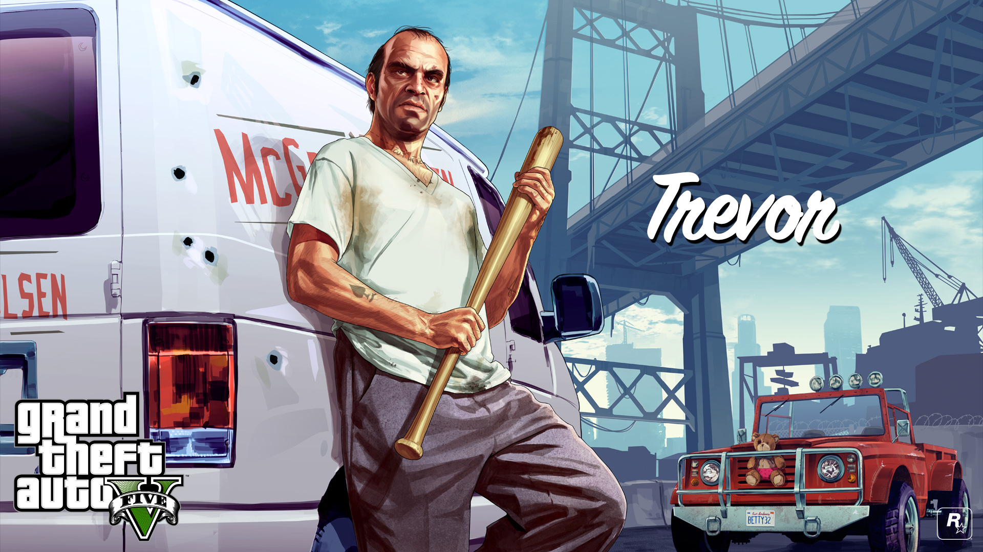Gta  Trevor_with_van_x Wallpaper